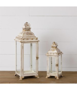 Lantern - Antiqued Cream and Gold