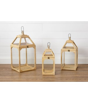 Lanterns - Natural Wooden