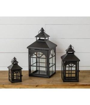 Black Arched Pane Lanterns