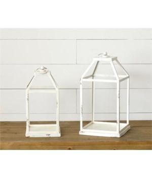 Distressed White Lanterns