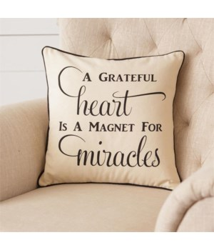 Pillow - Miracles 16 in. x 16 in.
