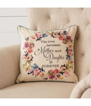 Pillow - Mother and Daughter 16 in. x 16 in. x 5.5 in.