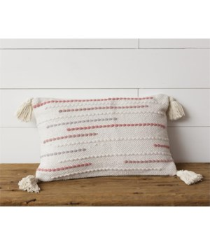 Pillow - Blush with Tassels 12 in. x 19 in.