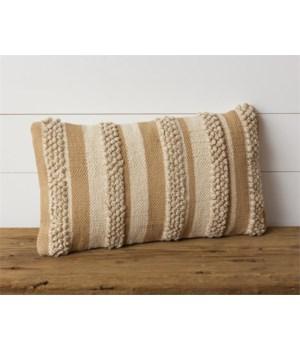 Pillow - Tan Stripe 12 in. x 20 in.