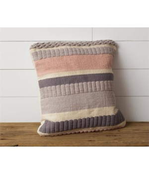 Pillow - Blush Stripe 18 in. x 18 in.