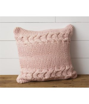 Pillow - Knitted, Blush 18 in. x 18 in.