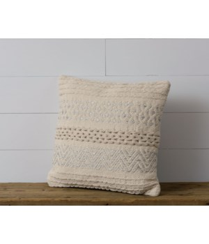 Pillow - Knitted, Silver Accents