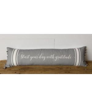 Lumbar Pillow - Start Your Day with Gratitude