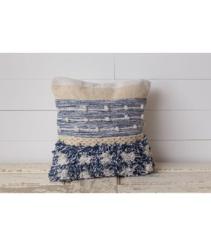 Woven Pillow With Knots