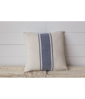 Pillow - Woven With Blue Stripe