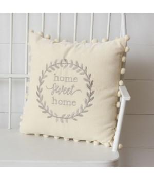 Velvet Pillow - Home Sweet Home