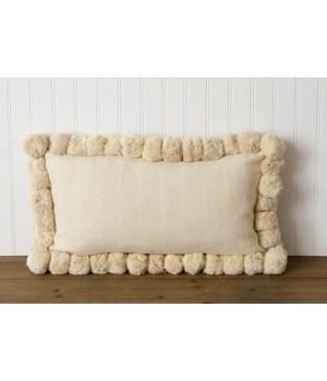 Pillow - Rectangle Pom Pom