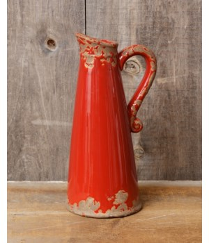 Pottery - Red Pitcher, Lg