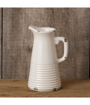 Pottery - Small Crackle Pitcher