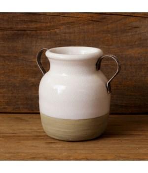 Earthenware - Two Handled Vase, Sm