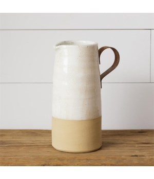 Pottery - Small Pitcher, Metal Handle
