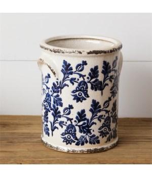 Pottery - Blue Floral, Large