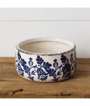 Pottery - Blue Floral