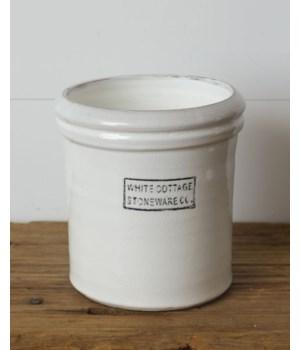 White Cottage Stoneware, Lg