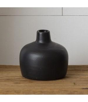 Black Matte Vase, Large