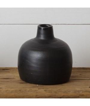 Black Matte Vase, Small