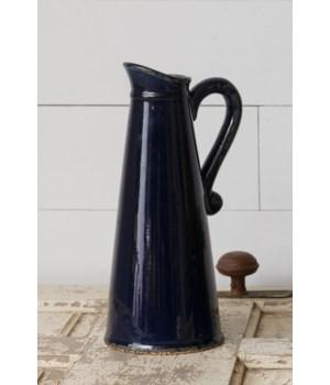 Pottery - Navy Blue Pitcher