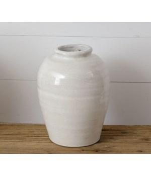 Crackled Vase - Small, White