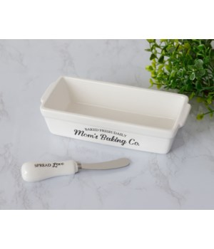 Butter Dish With Knife - Mom's Baking Co.