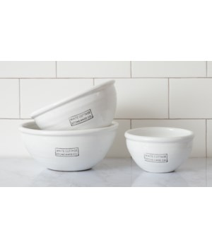 White Cottage Stoneware Bowls