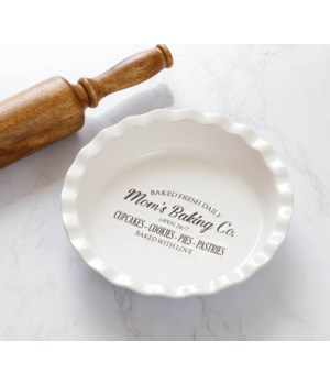 Mom's Baking Co. Pie Dish