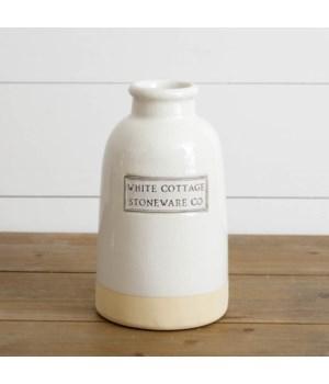 White Cottage Stoneware Vase