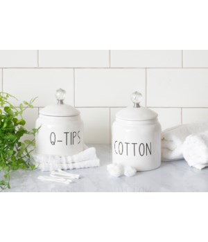 Q-Tip & Cotton Ball Canisters