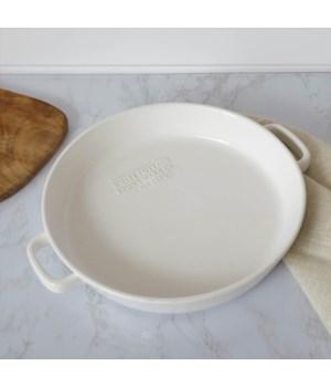 White Cottage Stoneware Baking Pan