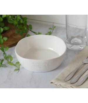 White Cottage Ceramic Single Serve Bowl