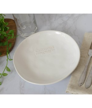 White Cottage Ceramic Single Serve Plate