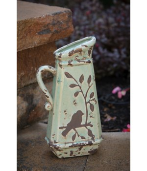 Pottery - Birds N Branches Pitcher