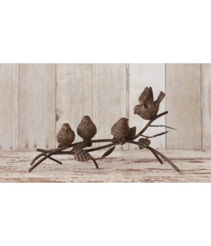 Birds Perched On A Branch