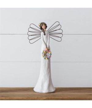 Angel Holding Wreath