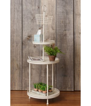 Floor Standing Rack - Cream