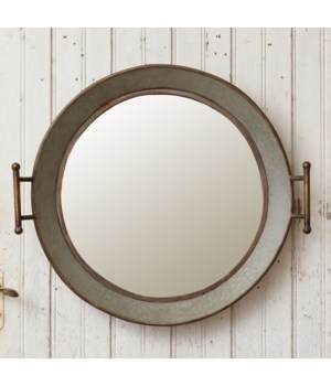 Wall Mirror - Galvanized Wash Tub