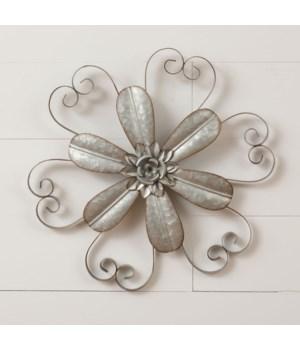 Wall Decor - Flower 17.5 in. x 17.5 in.