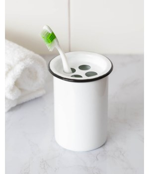 Enamelware - Toothbrush Holder