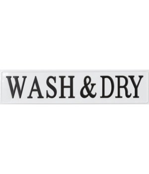 Sign - Wash & Dry