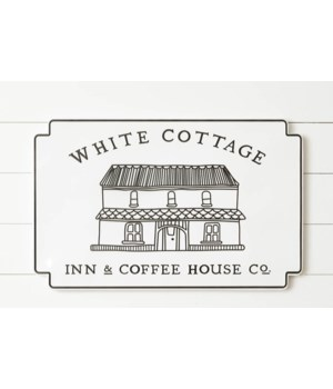 Metal Sign - White Cottage Inn & Coffee House Co.
