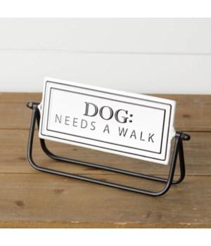 Dog Walked/Dog Needs Walked Flip Sign