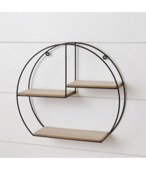 Metal Circle Wall Shelf