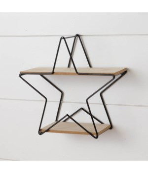 Metal Star Wall Shelf