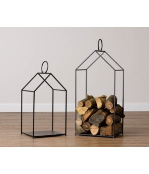 House Shaped Log Holder Set