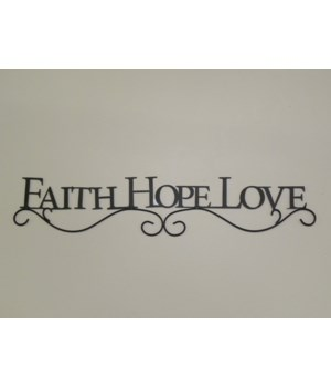 Wall Decor - Inspirational  Faith  Hope  Love 26 in. x 5 in.
