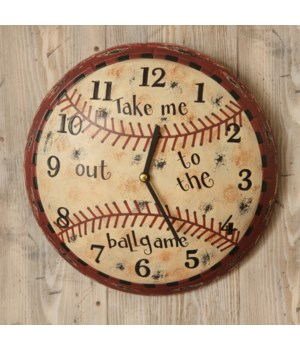 Wall Clock - Baseball Take Me Out